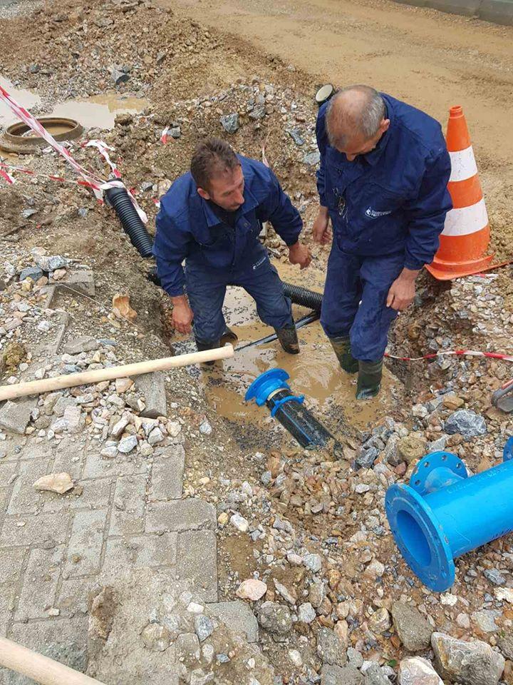 Çdo ditë,riparime në sistemin e rrjetit të ujësjellësit